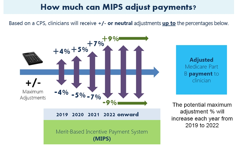How much can MIPS adjust payments?